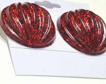 CUSTOM CLIP ONS: See Description Glitter Resin Clip-on Earrings
