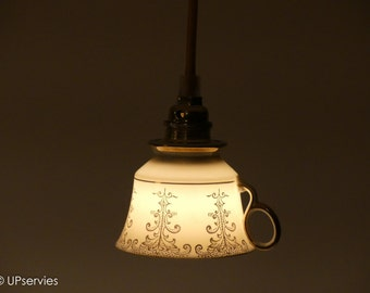 Valentine's Day gift? Birthday gift?  Cute teacup lamp from vintage WAKO (Japan) Chinaware