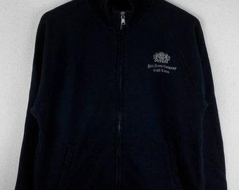 RARE!!! Polo Ralph Lauren Small Logo Dark Blue Colour Zipper Sweaters Hip Hop Swag L Size