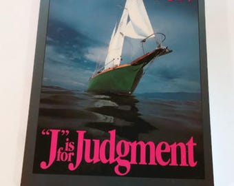 J is for Judgement by Sue Grafton  Trade Paperback    Large Print    Mystery