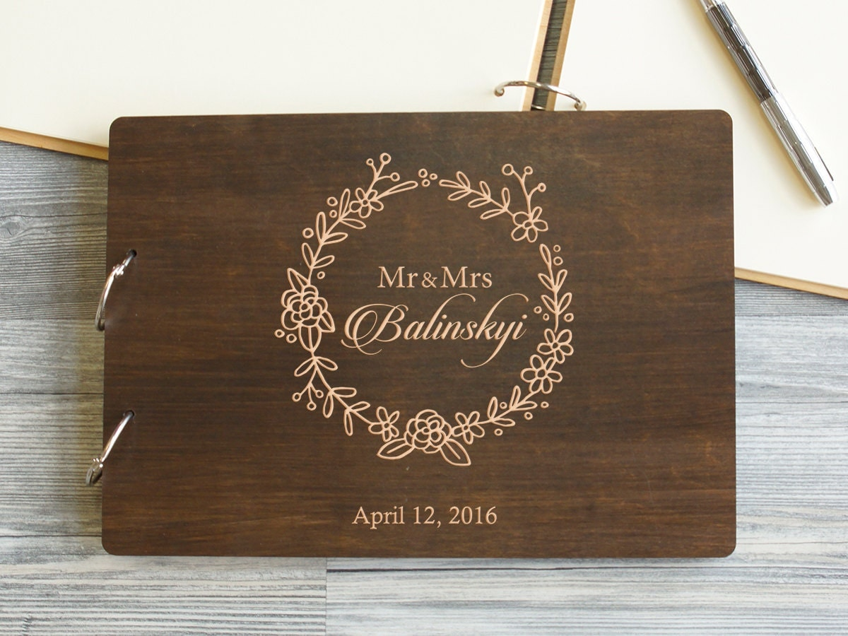Gift For Guests At Wedding: Wedding Guest Book Wedding Gift Personalized Guest Book