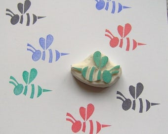 Honey Bee Rubber Stamp, bee rubber stamp, insect stamp, handmade bee stamp, kids craft, children stamp, scrapbooking, cardmaking, wrapping