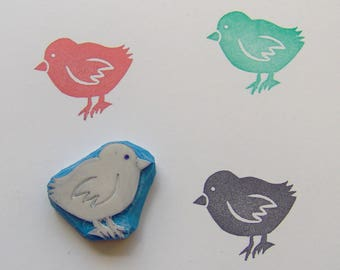 Baby chick rubber stamp, chick stamp, chicken Stamp, cute chicken stamp, baby chick stamp, little chick, easter, Scrapbooking, cardmaking