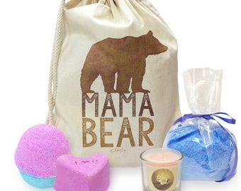 Mama Bear Silhouette Mini Spa In A Bag Collection 4