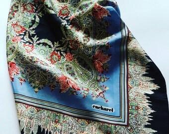 Vintage silk handkerchief Cacharel