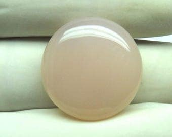 24Cts 22X22X6mm Awesome Pink Chalcedony Round Shape Loose Gemstone Cabochon Semi Precious Gemstone For Jewelry Making B-6132