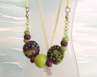 Taste of Summer   Kazuri Bead Necklace   Necklace   Beaded Necklace   Handmade Necklace