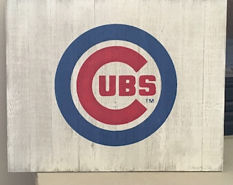 Chicago Cubs// Chicago Cubs Sign//Rustic Sports Sign//Rustic Sign//Sports