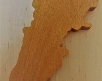 handmade Lebanon map from wood