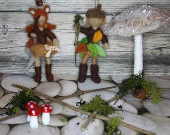 Minis Range - needle felt BOY fairy woodland theme