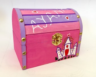 Personalised treasure box for little girls - a great custom gift for your little muchkins who love princess castles