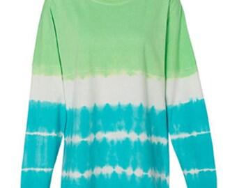 Tie Dyed Spirit Jerseys, Spirit Jerseys, Over-sized Shirt, Long Sleeve, Long Sleeve Shirt