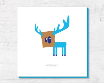 Funny Card | Funny Birthday Cards | Moose Card | Anonymoose | Card for Him | Card for Friend | Animal Card