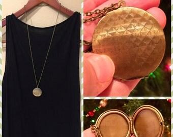 Brass photo locket, anniversary gift, push present, birthday present, valentine's day present, mom-to-be present