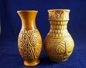 West German Vases Pair Ce...