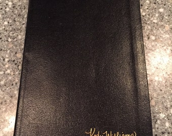 Engraved Bible in mother's handwritting