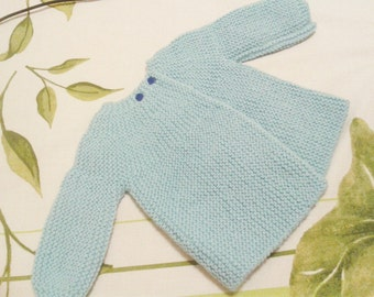 Jacket-wool sweater size 0-3 months, handmade, crochet