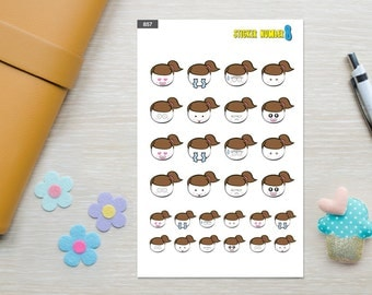 Emoti planner sticker stickers,emotion of the day sticker, cute planner accessories, functional planner stickers