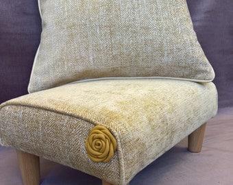 leather rose footstool