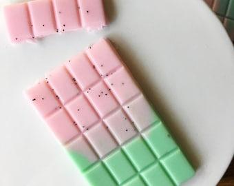 Watermelon SOAP chocolate bar, break apart soap, kids soap, watermelon gift, watermelon theme, thank you gift, teachers gift, fun soap