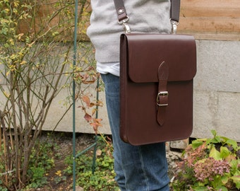 Leather iPad Case, Leather iPad bag, Leather Notebook Case / Bag, Messenger Bag