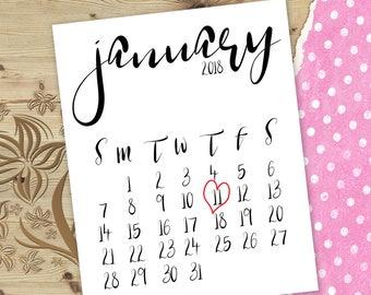 Due date january calendar Due date reveal calendar Pregnancy reveal calendar Due date announcement calendar Printable pregnancy announce