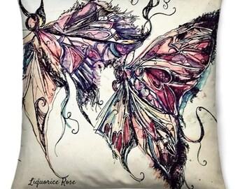 Dancing Butterflies, Square cushion