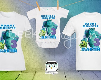 Monsters INC Birthday Shirt Custom personalized,  Birthday T shirt, Party