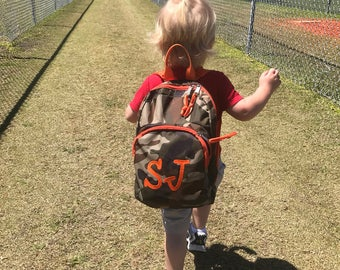 Mini Backpack, child's/toodler bookbag, Boy or Girl, embroidered