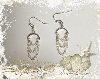 Tiny Chandelier Chain Earrings