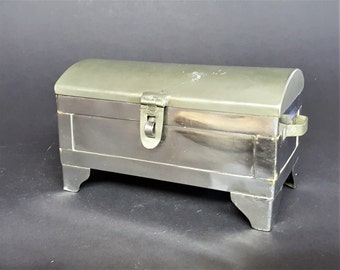 Metal Box Jewelry Box Vintage Stainless Box