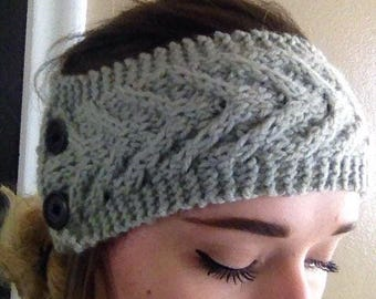 CLEARANCE Knit Cabled Headband