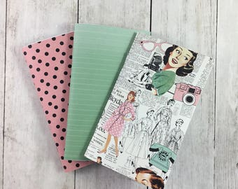 "3""x5"" Notebook, Blank Paper Notebook,  Set of Notebooks, Mini Notebooks, Mini Journal, Journal Set, Notebook Set 3x5103"
