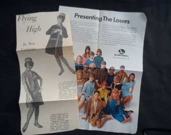 FREE SHIPPING in USA Vintage Eastern Airlines Newspaper Article Re Uniforms, Magazine Ad Re Stewardess Qualifications   Memorabilia  1035