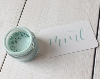 Mint Calligraphy Ink.