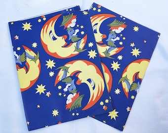 Vintage   Man on the Moon   Nursery Rhyme   Wrapping Paper