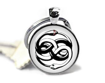 Ouroboros Keychain Neverending story Keyfob Auryn Keyring Neverending story snake