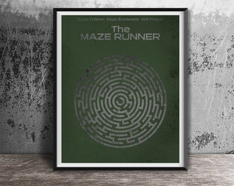 Movie poster print,The Maze Runner-printable film poster,Minimalistic film art printables,Alternative movie poster,Instant Download,Print