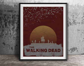 Movie poster print,The Walking Dead-alternative movie poster,Minimalistc movie poster,Film wall art,TV Series poster,Instant download