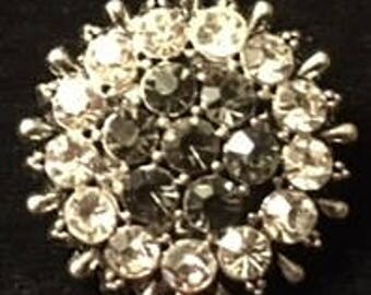 New Rhinestone Burst of Beauty 18mm Interchangeable Snap - This is a Beauty!