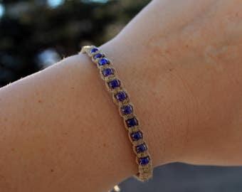 Purple Hemp Friendship Bracelets - Gay Pride - Lesbian - LGBTQ - Queer - Stackable Bracelets - Beaded Bracelets - Wrap Bracelets