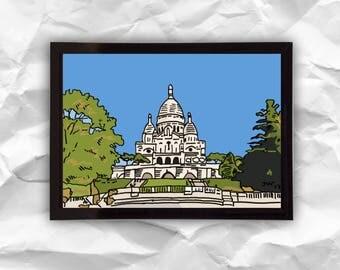 Digital download Paris, digital illustration