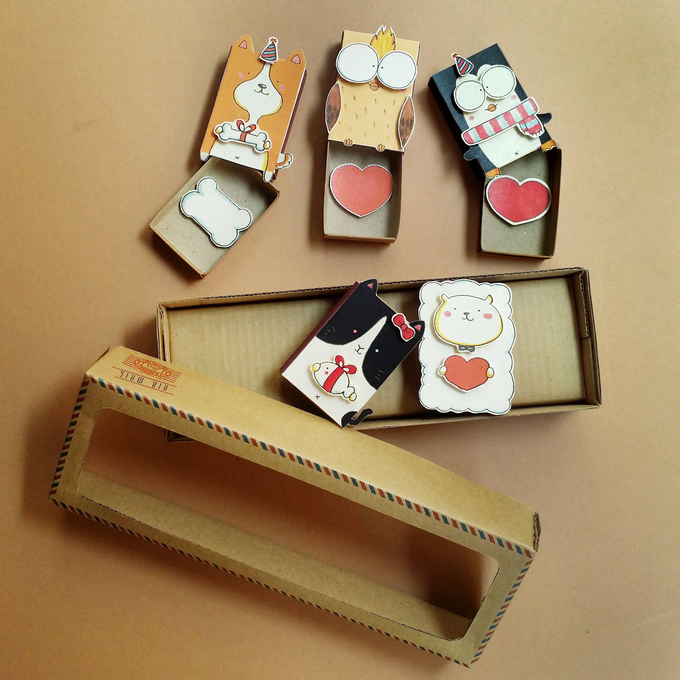 5 DIY Birthday Matchbox-Set/ Funny Birthday Card/ DIY Cards/