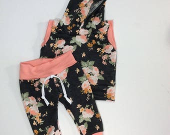 Baby girl summer outfit, newborn girl summer outfit, take home girl clothes