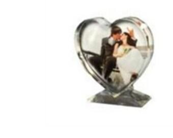 Heart shaped Crystal frame
