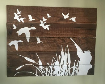 Duck Hunting Pallet Sign