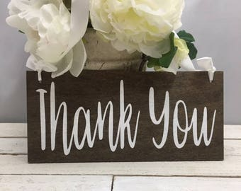 Thank You Wood Sign-Wedding Thank You Sign-Rustic Thank You Sign
