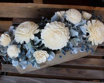 Rustic Wedding Centerpiece, Sola Flower Centerpiece, Keepsake Arrangement, Wedding Centerpiece