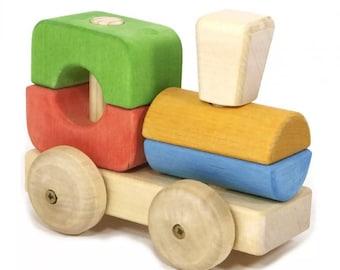 """Train """"Tutya"""" -  Wooden toys, Wooden machine, Developmental toys, Handmade toys, Montessori toys, Waldorf toys, Tactile toys, train, car"""