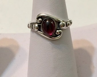 USA-FREE SHIPPING!!  Silver Garnet Ring- Special Order